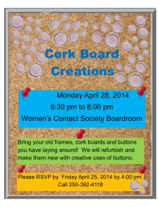 Crafting with Recycling @ Women's Contact Society Boardroom   Williams Lake   British Columbia   Canada