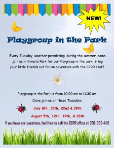 Playgroup in the Park Poster 2014