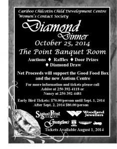 10th Annual Diamond Dinner @ Signal Point Gaming Banquet Room | Williams Lake | British Columbia | Canada